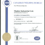 CWB Certification - Maden Industrial Ltd.